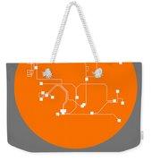 Hong Kong Orange Subway Map Weekender Tote Bag