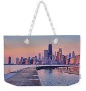Hook Pier - North Avenue Beach - Chicago Weekender Tote Bag
