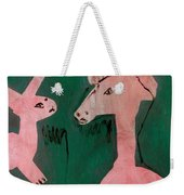 Horse And A Rabbit Weekender Tote Bag