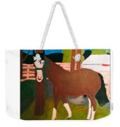 Horse On A Ranch Weekender Tote Bag