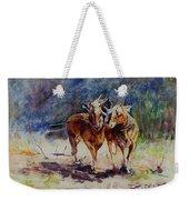 Horses On Work Weekender Tote Bag