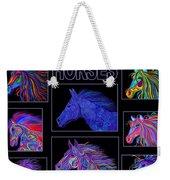 Horses Poster Weekender Tote Bag