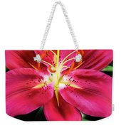 Hot Pink Day Lily Weekender Tote Bag by Jessica Manelis
