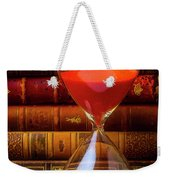 Hourglass And Old Books Weekender Tote Bag