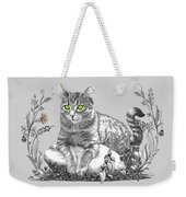 House Cat Weekender Tote Bag