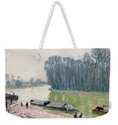 Houseboats On The River Loing Weekender Tote Bag
