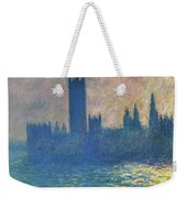 Houses Of Parliament, Sunlight Effect - Digital Remastered Edition Weekender Tote Bag
