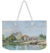 Houses On The Bank Of Ecluse At The Gazonne Weekender Tote Bag