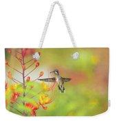 Hummingbird And Pride Of Barbados  Weekender Tote Bag