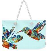 Hummingbird Blue - Sharon Cummings Weekender Tote Bag
