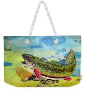 Hungry Trout Weekender Tote Bag by Clyde J Kell