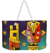 I Come In Peace - Heavy Metal Weekender Tote Bag by Sotuland Art