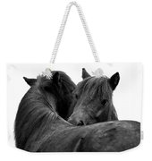 I Just Need A Hug. The Black Pony Bw Transparent Weekender Tote Bag