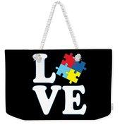 I Love Autism Weekender Tote Bag
