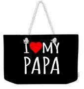 I Love My Papa Weekender Tote Bag