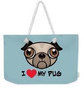 I Love My Pug Weekender Tote Bag