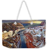 I Saw Three Ships Come Sailing In, On Christmas Day In The Morning. Weekender Tote Bag