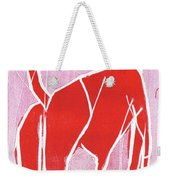 I Was Born In A Mine Red Dog 34 Weekender Tote Bag