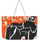I Was Born In A Mine Woodcut 55 Weekender Tote Bag