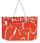 I Was Born In A Mine Woodcut 56 Weekender Tote Bag