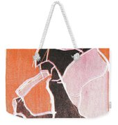 I Was Born In A Mine Woodcut 74 Weekender Tote Bag