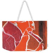 I Was Born In A Mine Woodcut 76 Weekender Tote Bag