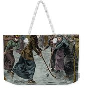 Ice Hockey  Ladies Match On The Lake In Wimbledon Park Weekender Tote Bag