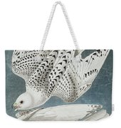 Iceland Falcon Or Jer Falcon By Audubon Weekender Tote Bag