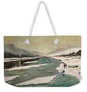 Icey River Weekender Tote Bag