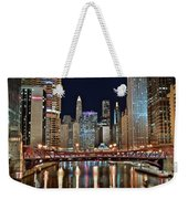 Iconic Night View Down The River Weekender Tote Bag