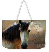 If Horses Could Talk - Verse Weekender Tote Bag