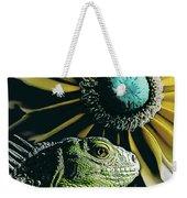 Iguana And Sunflower Weekender Tote Bag