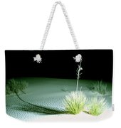 Illuminated Yucca At Night In White Sands National Monument, New Mexico - Newm500 00108 Weekender Tote Bag