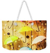 In Rainy Fashion Weekender Tote Bag