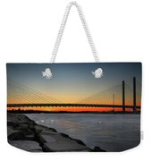 Indian River Bridge Over Swan Lake Weekender Tote Bag by Bill Swartwout Photography