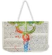 Intensive Care Unit Gift Idea With Caduceus Illustration 03 Weekender Tote Bag