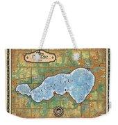 Iowa Clear Lake Custom Map Custom Map Art Weekender Tote Bag