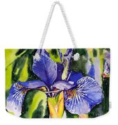 Iris In Bloom Weekender Tote Bag