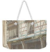 Iron Frame House With Glazed Earthenware  Weekender Tote Bag