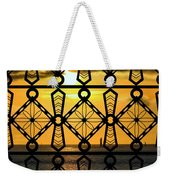 Iron Lattice Pattern St Malo Sunset Weekender Tote Bag
