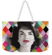 Jackie Geometric Weekender Tote Bag