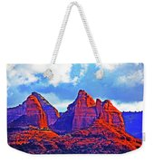 Jack's Canyon Village Of Oak Creek Arizona Sunset Red Rocks Blue Cloudy Sky 3152019 5080  Weekender Tote Bag