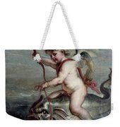 Jan Erasmus Quellinus / 'cupid On A Dolphin', Ca. 1630, Flemish School. Jan-erasmus Quellinus . Weekender Tote Bag