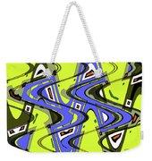 Janca Yellow And Blue Wave Abstract, Weekender Tote Bag