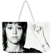 Jane Fonda Mug Shot Weekender Tote Bag