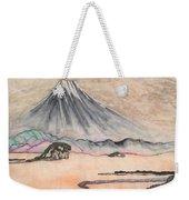 Japan Art And Mount Fuji - Suzuki Kiitsu In Color By Sawako Utsumi Weekender Tote Bag