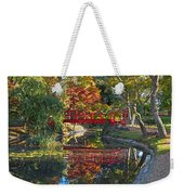 Japanese Garden Red Bridge Reflection Weekender Tote Bag