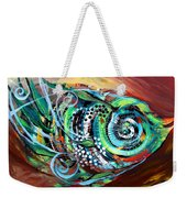 Jazzy Fish Trying For Busk At Dusk Weekender Tote Bag