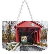 Jericho Covered Bridge Snow Weekender Tote Bag