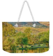 Jerome Reflected In Deadhorse Ranch Pond Weekender Tote Bag